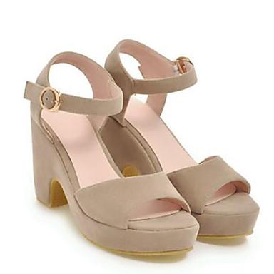 Bottier ouvert Daim Talon Chaussures Sandales Bout Vert Boucle Bride A Jaune Femme Beige 06771233 Printemps Arrière été Pz5Tqwq