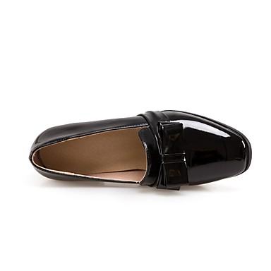Talon carré 06766246 Bottier Cuir Noeud Femme Bourgogne Escarpin Chaussures Bout Noir Verni Basique Chaussures Automne à hiver Talons 4TOvxRw