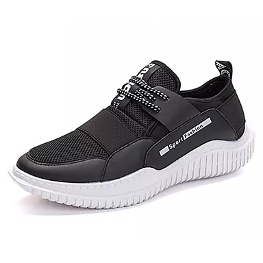 Homme Tulle Printemps & Automne Automne Automne Confort Chaussures d'Athlétisme Marche Blanc / Noir   Une Grande Variété De Modèles  2f8741