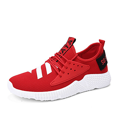 Bărbați Mocasini Tul Vară Adidași de Atletism Alergare / Plimbare Alb / Negru / Rosu