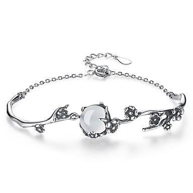 voordelige Dames Sieraden-Dames Jade Maansteen Armbanden met ketting en sluiting Bloem Dames Modieus Legering Armband sieraden Zilver Voor Dagelijks Formeel