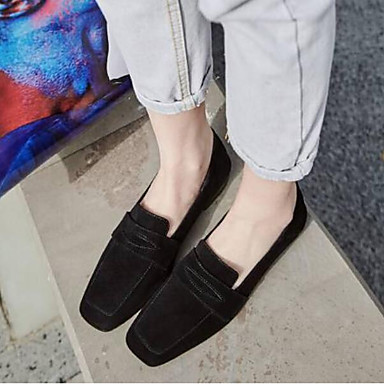Plat Bout fermé Confort Talon Rose Femme Gris Chaussures Daim Ballerines Noir Eté 06764372 Bn10qY
