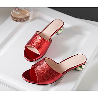 Eté Bottier Chaussures Sandales Nappa Cuir 06818550 Confort Rouge Femme Argent Talon 04qwtdt
