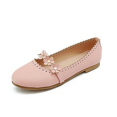 06833399 Plat rond Printemps Rose Noir Ballerines été dragée Confort Beige Chaussures Bout Polyuréthane Talon Femme clair 0qw1Zg