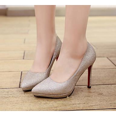 Polyuréthane Chaussures Escarpin 06801212 Aiguille Printemps Argent Femme à Basique Automne Chaussures Talons Talon Or Confort UpqRTd5xw