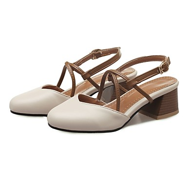 à Chaussures Blanc Confort Talons Polyuréthane Beige Chaussures Femme Escarpin Talon Eté Rose 06832462 Basique Bottier w0qxB