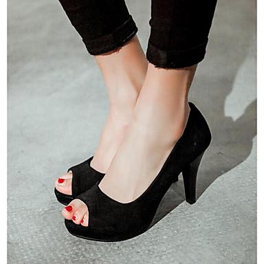 Primavera 06837885 Zapatos Tacones Rojo Tacón Negro Confort Mujer Morado Ante Stiletto 4Eqvwxx