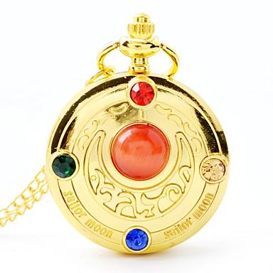 baratos Relógios Senhora-Mulheres Relógio de Bolso Quartzo Aço Inoxidável Dourada Fofo Analógico-Digital Desenho - Dourado
