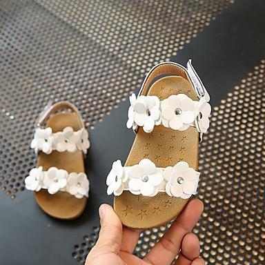 Djevojčice Cipele PU Proljeće ljeto Udobne cipele Sandale Cvijet za Dijete koje je tek prohodalo Obala / Pink