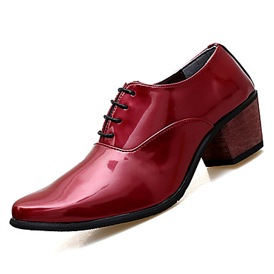 Men's PU(Polyurethane) Fall Comfort Oxfords Red White / Black / Red Oxfords 1c148c