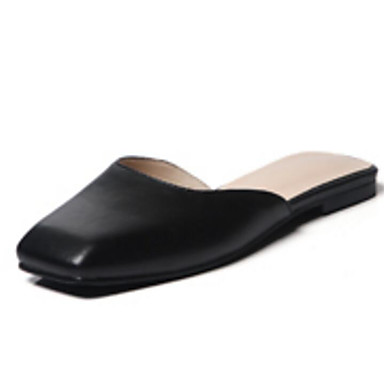Sabot Talon Plat Nappa Beige Escarpin Chaussures Noir Confort amp; Printemps Femme 06795396 Mules Basique Cuir S0xBqwwT