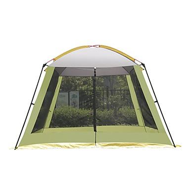 8 أشخاص خيمة شفافة منزل شفاف في الهواء الطلق مقاوم للأشعة فوق البنفسجية مكتشف الأمطار التنفس إمكانية طبقة واحدة قطب الماسورة خيمة التخييم 2000-3000 mm إلى Camping / Hiking / Caving تنزه تيريليني
