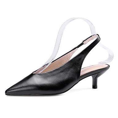 pointu Bride 06783157 été Beige Bout Nappa Cuir A Noir Femme Printemps Sandales Arrière Chaussures Talon Aiguille Boucle YU7qAH