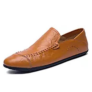 Men's & Moccasin Cowhide Fall Loafers & Men's Slip-Ons White / Black / Brown caaac1