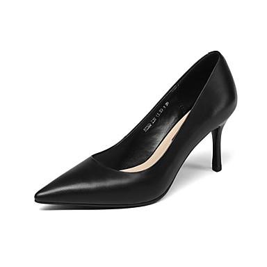 Escarpin Aiguille Femme Cuir Rouge Chaussures à Automne Printemps Beige Confort 06831389 Nappa Noir Basique Talon Chaussures Talons w7Agqx7Y