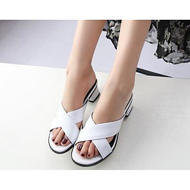 Nappa Blanc Femme Talon Bottier 06818680 Café Confort Eté Noir Sandales Chaussures Cuir ppAqxfE