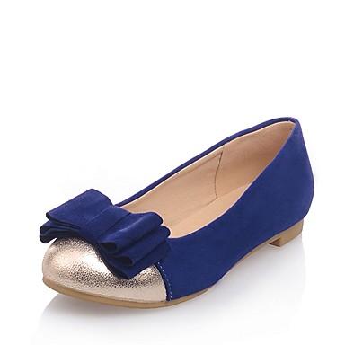 Žene Cipele Eko koža Proljeće ljeto Udobne cipele Ravne cipele Niska potpetica Okrugli Toe Mašnica Crn / Plava / Light Pink