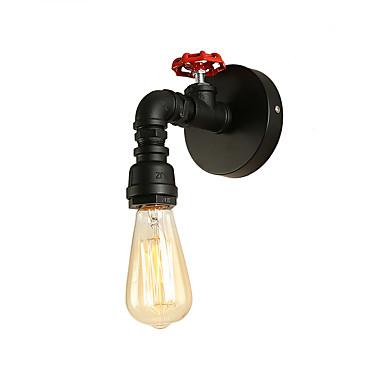 loft mini estilo retro industrial aplique de pared y barra de metal lámpara de pared de tubo de agua acabado pintado