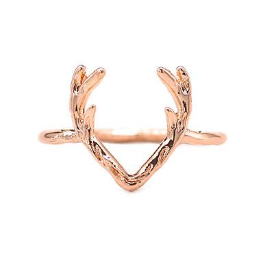 voordelige Dames Sieraden-Dames Ring 1pc Goud Zwart Zilver Legering Onregelmatig Dames Eenvoudig Modieus Kerstmis Lahja Sieraden Hol Hert Dier Schattig