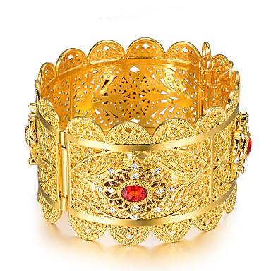 voordelige Bangle-Dames Bangles Cuff armbanden Sculptuur Dames Etnisch Italiaans Verguld Armband sieraden Goud Voor Feest Lahja
