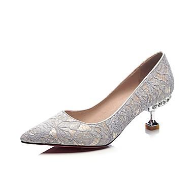 Argent Maille Chaussures Talons Confort été à 06833389 Femme Noir Chaussures Talon Printemps hétérotypique wPqOx5f