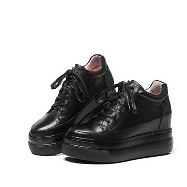 Nappa Confort Chaussures fermé Bout Femme Eté Printemps 06833231 Cuir Noir Creepers Basket TgTnRW