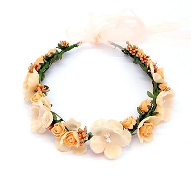 baratos Bijuteria de Mulher-Mulheres Simples Tecido Zircônia Cubica Grinaldas Para Noite Festival - Floral
