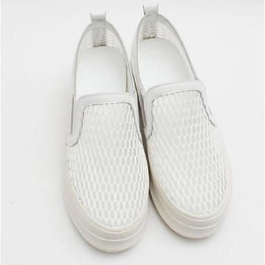 bonne texture: messieurs - dames: les chaussures et de confort d'été des mocassins et chaussures nappa cuir feuillet ons croûton fermé toe blanc / noir 33f47f