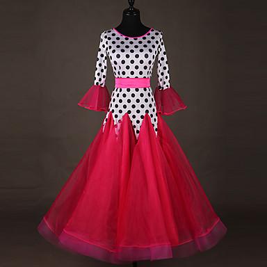 Für den Ballsaal Kleider Damen Leistung Elasthan Horizontal gerüscht / Kombination 3/4 Ärmel Kleid
