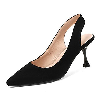 Evénement Bobine Soirée pointu 06778095 Printemps amp; Chaussures à Rose Femme Bride Beige A Chaussures Talon Noir été Bout Daim Talons Arrière Px1HAqTw