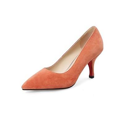 Žene Cipele Ovčja koža Proljeće / Jesen Obične salonke Cipele na petu Stiletto potpetica Krakova Toe Crn / žuta