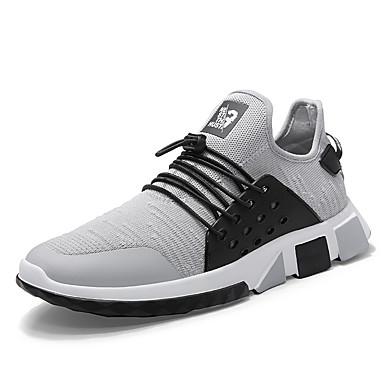 Muškarci Pletivo / Elastična tkanina Ljeto Udobne cipele Atletičarke tenisice Trčanje Color block Crn / Sive boje / Crvena