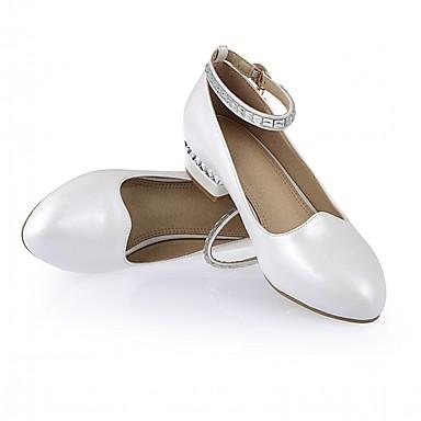 Chaussures à Blanc Talons 06835700 Automne amp; Talon Femme Faux Chaussures Cuir Printemps Bas Rose Confort pn8pdq