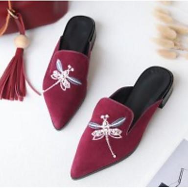 amp; 06825916 Talon Noir Bottier Sabot Printemps Peau de Bourgogne Chaussures Femme mouton Mules Confort PwO0q0zZ