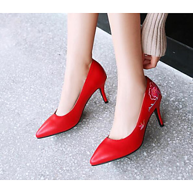 Eté Chaussures Blanc Confort Chaussures Femme Escarpin Talon Aiguille Noir à Talons Basique Polyuréthane 06797235 Rouge xEqp4RpYw