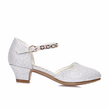176a357239e Girls  Shoes PU(Polyurethane) Spring   Fall Flower Girl Shoes   Tiny Heels  for Teens Heels for Silver   Blue   Pink