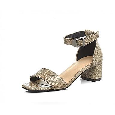 06811085 Amarillo Zapatos Básico Tacón Pump Cuadrado Confort Mujer Sintéticos Beige Sandalias Verano qFPwWOvZ