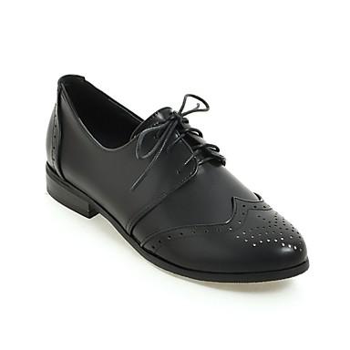 Noir 06840535 Beige Chaussures Printemps Polyuréthane Confort Femme Plat Talon Argent Oxfords été qa8zPF