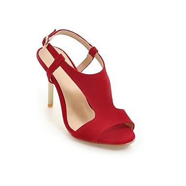 Daim Aiguille 06783398 Talon Femme Bride A Rouge Chaussures Eté Rose Arrière Boucle Bout Noir Sandales ouvert 8wAAqZ50x