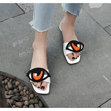 Blanc Femme Eté 06791511 Talon Nappa Bas Chaussures Confort Cuir Sandales BrP687B