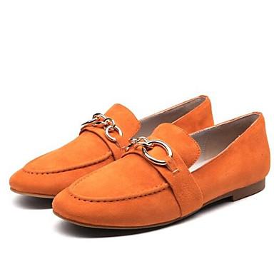 Bout Rose Chaussures Mocassins Orange Femme Cuir et Chaussons Confort Printemps Plat Eté Talon Daim Noir 06835450 fermé D6148 47naxB