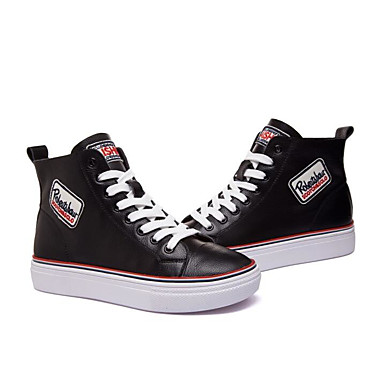 Žene Cipele Mekana koža Proljeće / Jesen Udobne cipele Sneakers Platformske cipele Obala / Crn