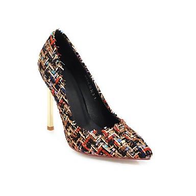 Femme Aiguille été Lin Chaussures Amande Blanc Noir Confort Printemps à Chaussures 06825917 Talons Talon zBqazwrgH