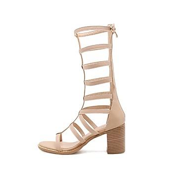 Noir Printemps 06817232 Chaussures été Confort Cuir Nappa Bottier Femme Sandales Talon Amande wa4zqFx