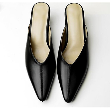 Noir Mules Kitten Heel Confort Cuir Femme 06797399 Nappa Printemps Amande amp; Basique Escarpin Chaussures Sabot Uqvwzxv7Tn