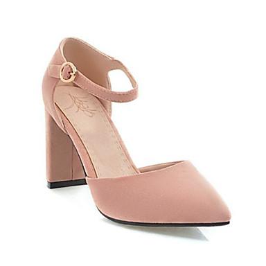 Bottier Noir Chaussures Talon Beige été Boucle Chaussures Rose à Confort Printemps Bout pointu Microfibre 06785646 Talons Femme wqzAOXHO