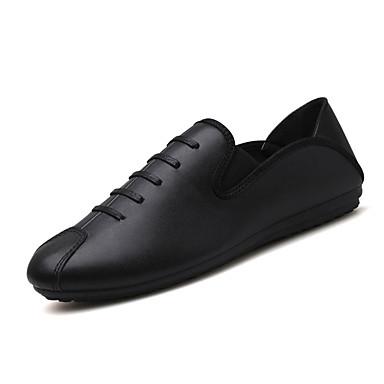 Muškarci Cipele za vožnju PU Jesen Udobne cipele Natikače i mokasinke Crn / Crvena