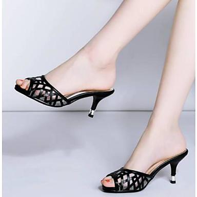 Rojo Sandalias Mujer PU Negro Blanco Tacón Confort 06781835 Zapatos Stiletto Verano IzaxqwfOz