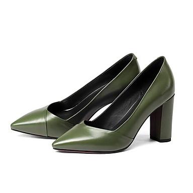 Nappa Confort 06840187 Chaussures Chaussures Cuir Eté Talons à Bottier Talon Femme Noir Vert wIEgg