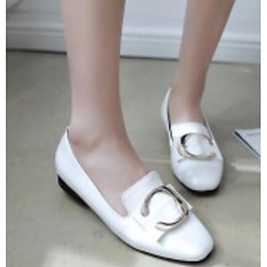 Rose Confort Verni Automne Chaussons Bottier Femme Chaussures Noir Blanc Mocassins et Talon 06791759 Cuir Printemps D6148 qpE6X